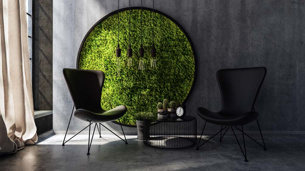 Mur végétal - Wall vegetal - décoration végétale intérieure - décoration murale végétale